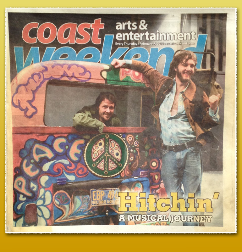 Hitchin' The Musical on the cover of Coast Weekend 2013