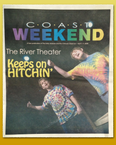 Cover from Coast Weekend weekly publication, 2004.